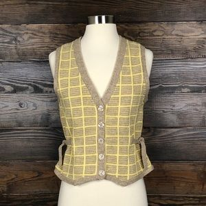 Anthropologie Sparrow Lambswool Sweater Vest M